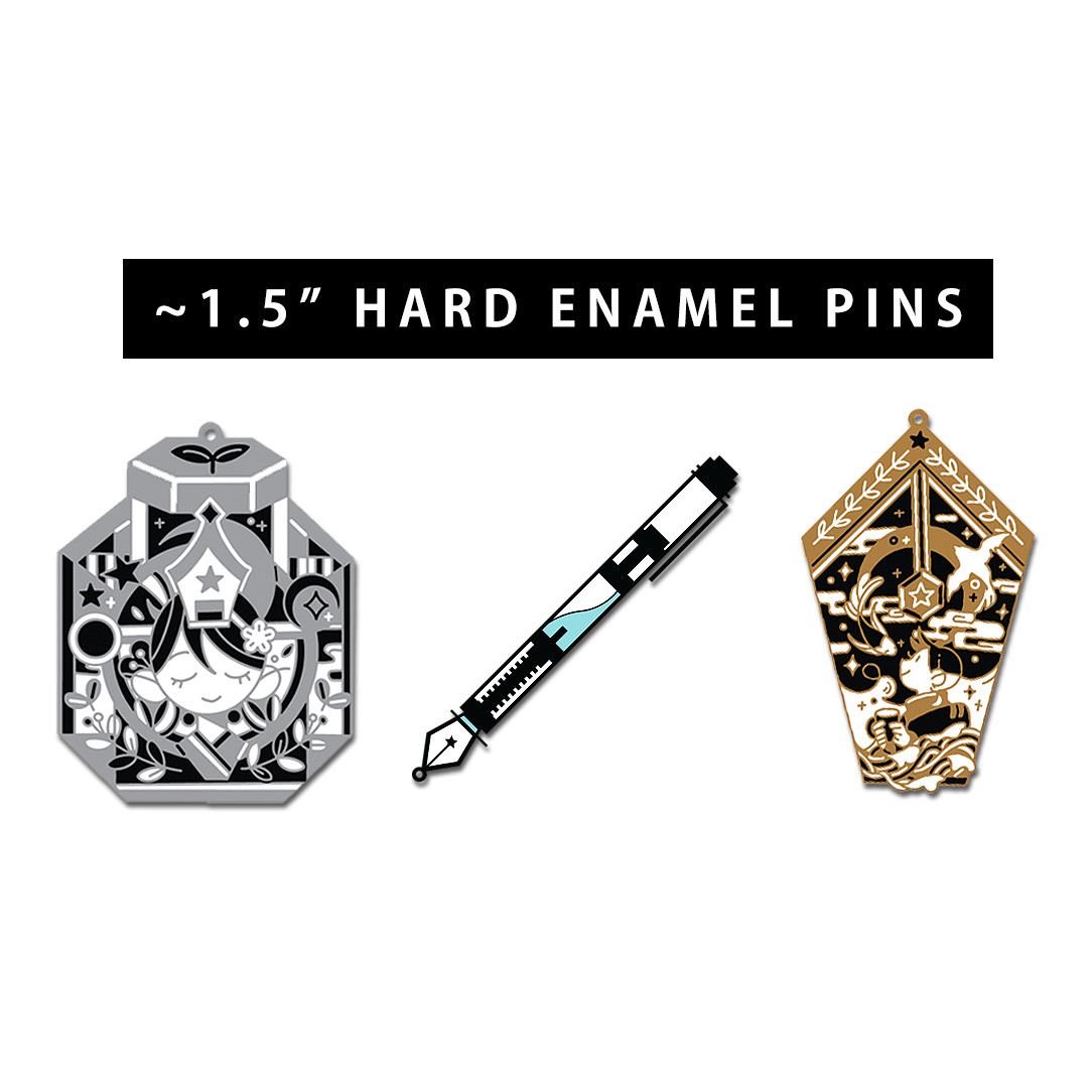 [PreOrder] Bottle/Nib/Pen Hard Enamel Pin