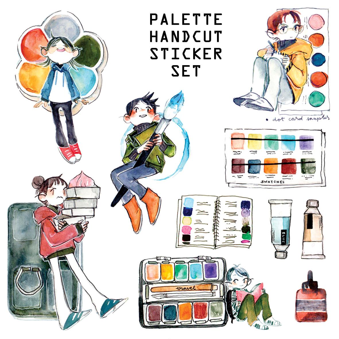 Palette Handcut Sticker Set