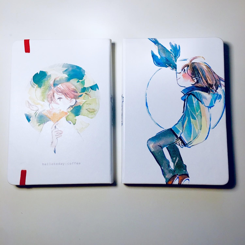 White Bird PU Leather Sketchbook