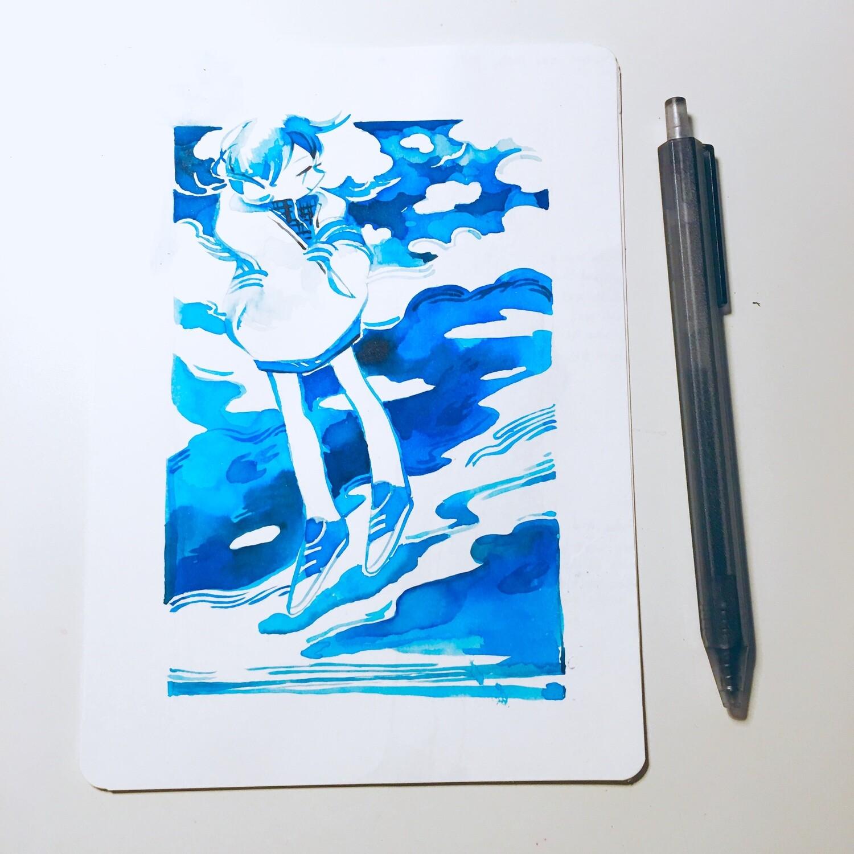 Blue Skies Sketchbook Original