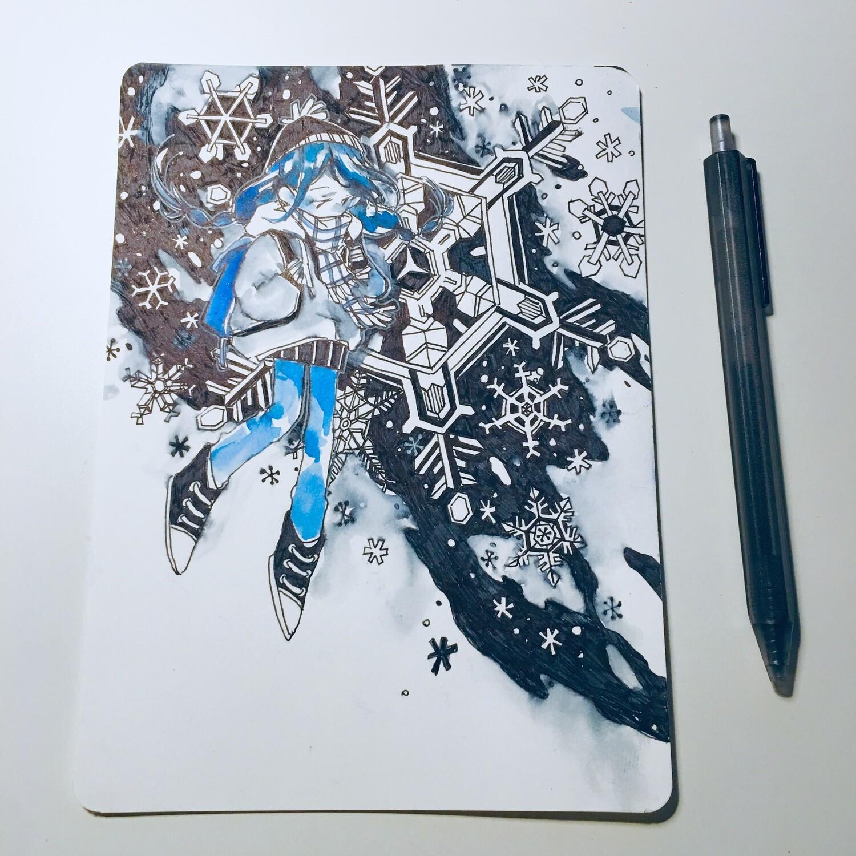 Black Snow Sketchbook Original