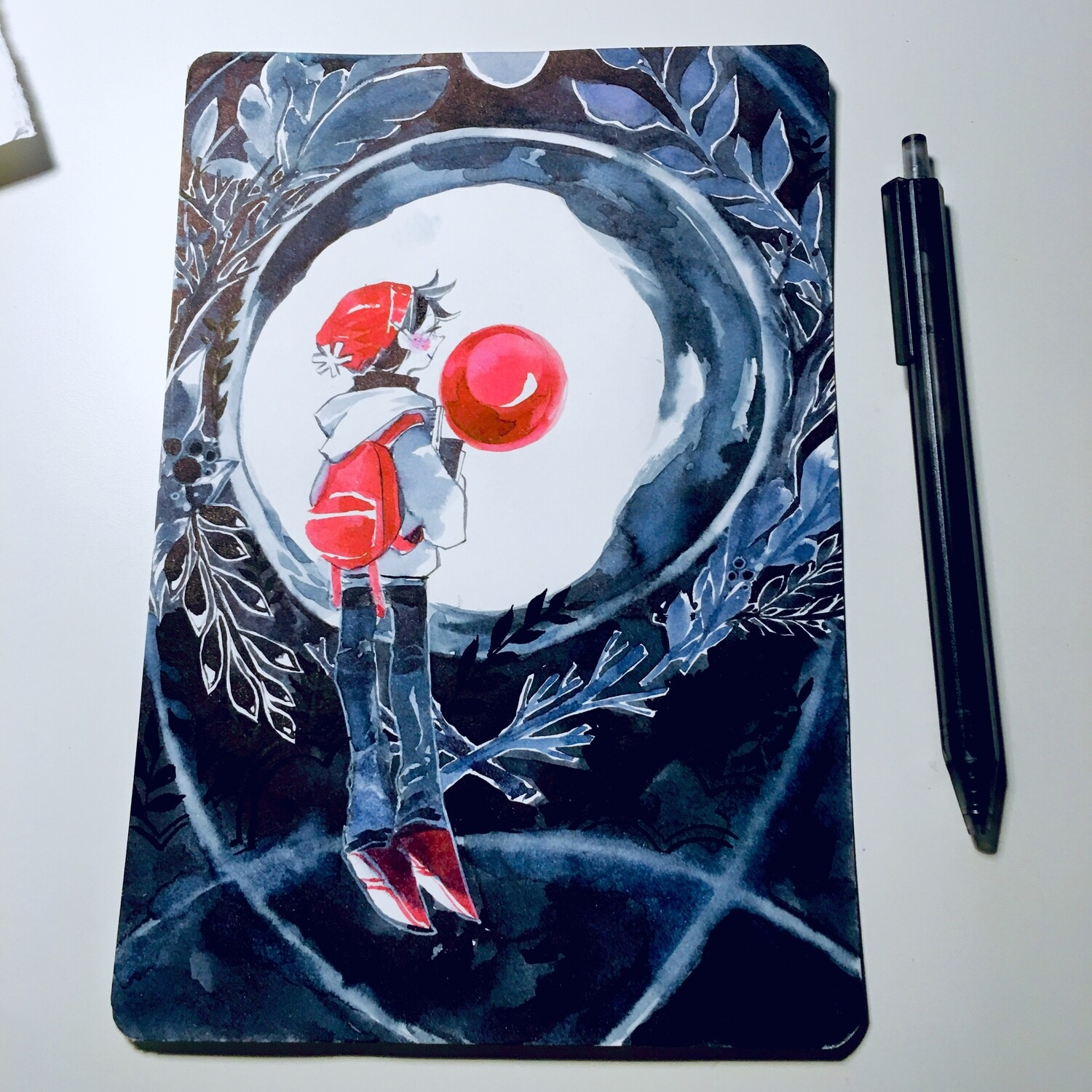 Red Moon Sketchbook Original