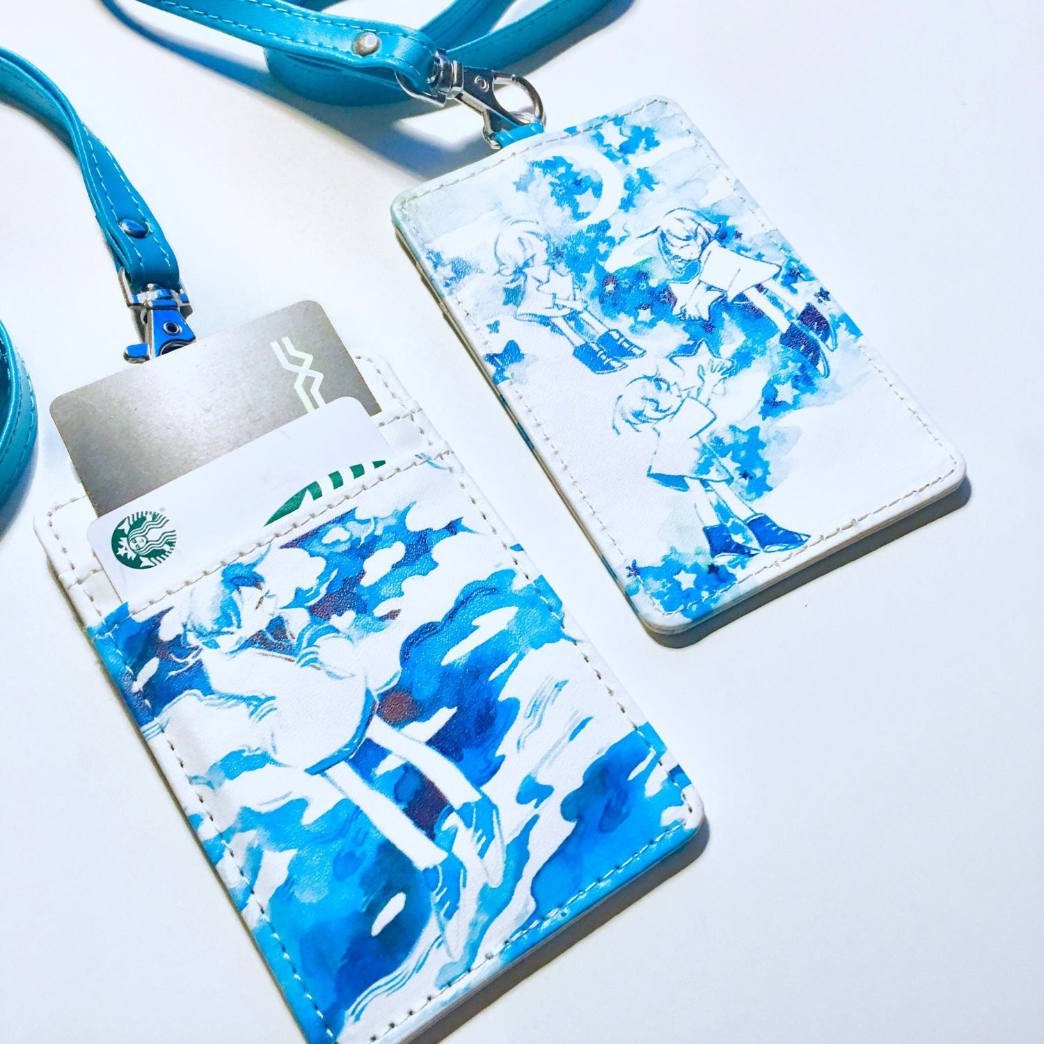 Blue Skies PU Leather Passcase
