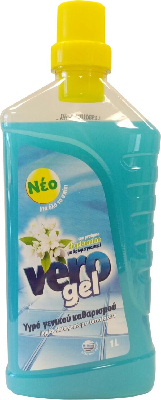 Препарат за под FLOS, гел, с аромат на жасмин, 1л