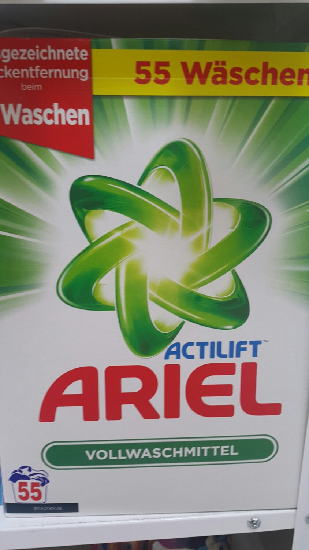 Перилен препарат ARIEL Actilift, прах, 55 пранета