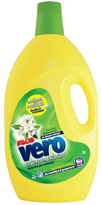 Течен перилен препарат FLOS, жасмин, 60 пранета, 3 л