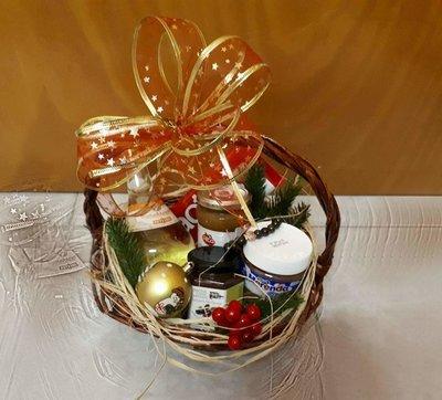 Подаръчна кошница с гръцки лакомства