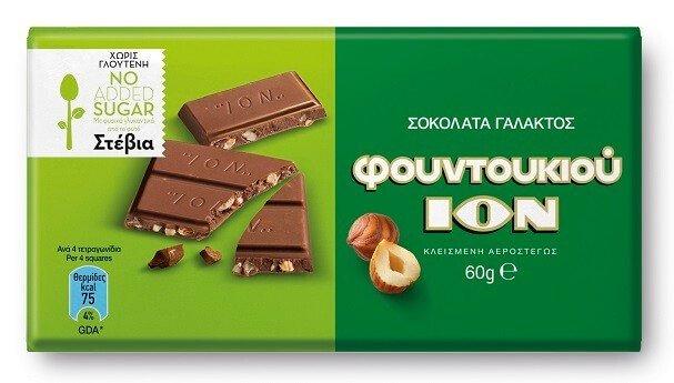 Гръцки шоколад с лешници, със стеви, ION