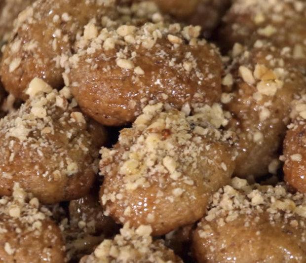 Меломакаронa, гръцки коледни постни сладки