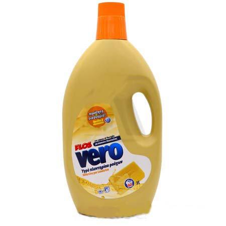 Течен перилен препарат FLOS Vero, с марсилски сапун, 60 пранета