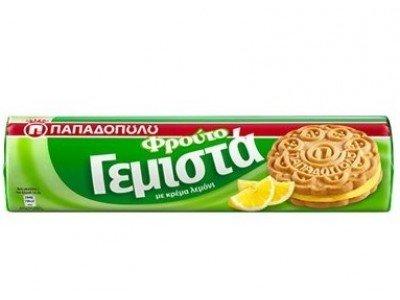 Гръцки сандвич бисквити с крем от лимон, Papadopoulou, 200 гр