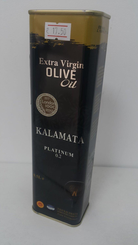 Гръцки зехтин KALAMATA Platinum 0.2%, 0.5 л