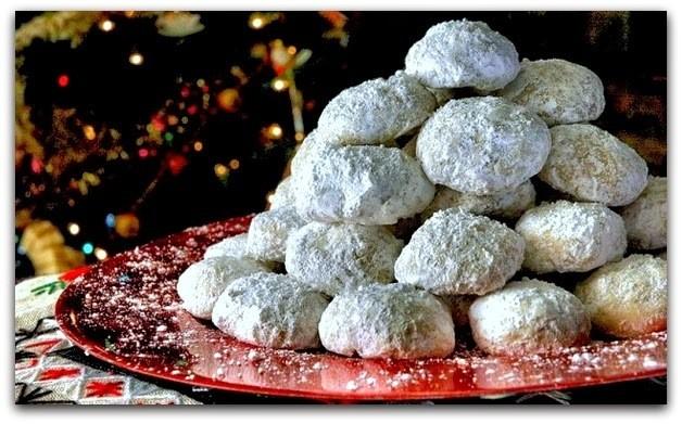 Бяла Гръцка Курабия с бадеми