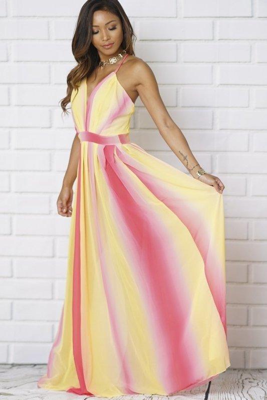 Yellow Pink Dress