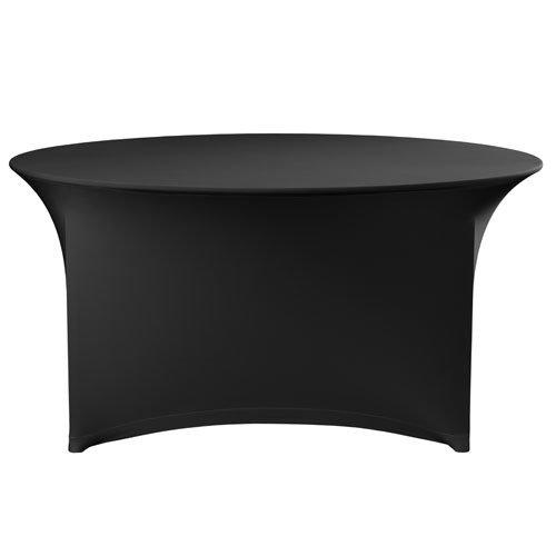 Ronde Zwarte Tafel.Zwarte Stretch Voor Ronde Tafel O1 8m
