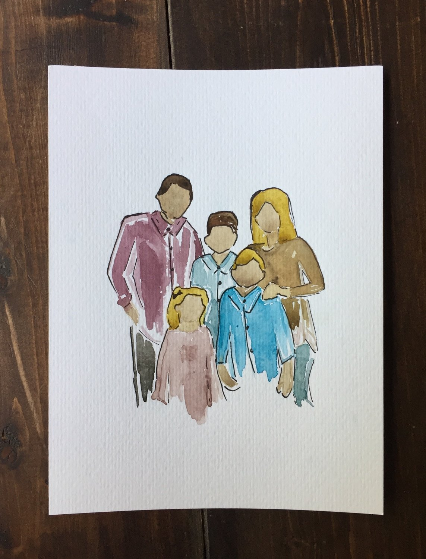 5 x 7 Family Portrait (6 Member Max)