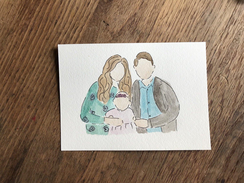 4 x 6 Family Portrait (3-4 Members)