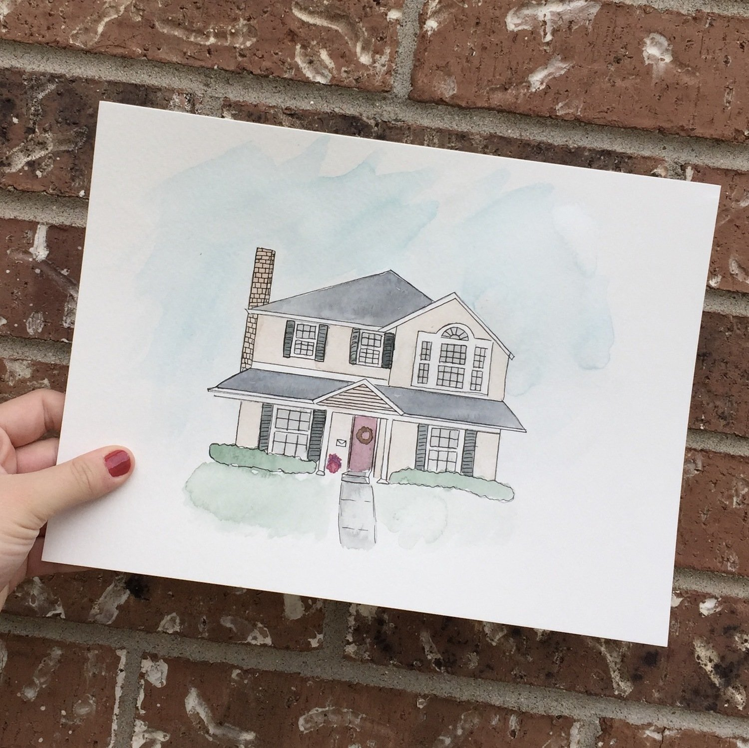 8 x 10 Custom House Illustration