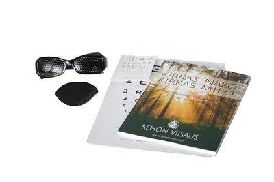 Kirkas näkö -harjoituspaketti + sporttilasit