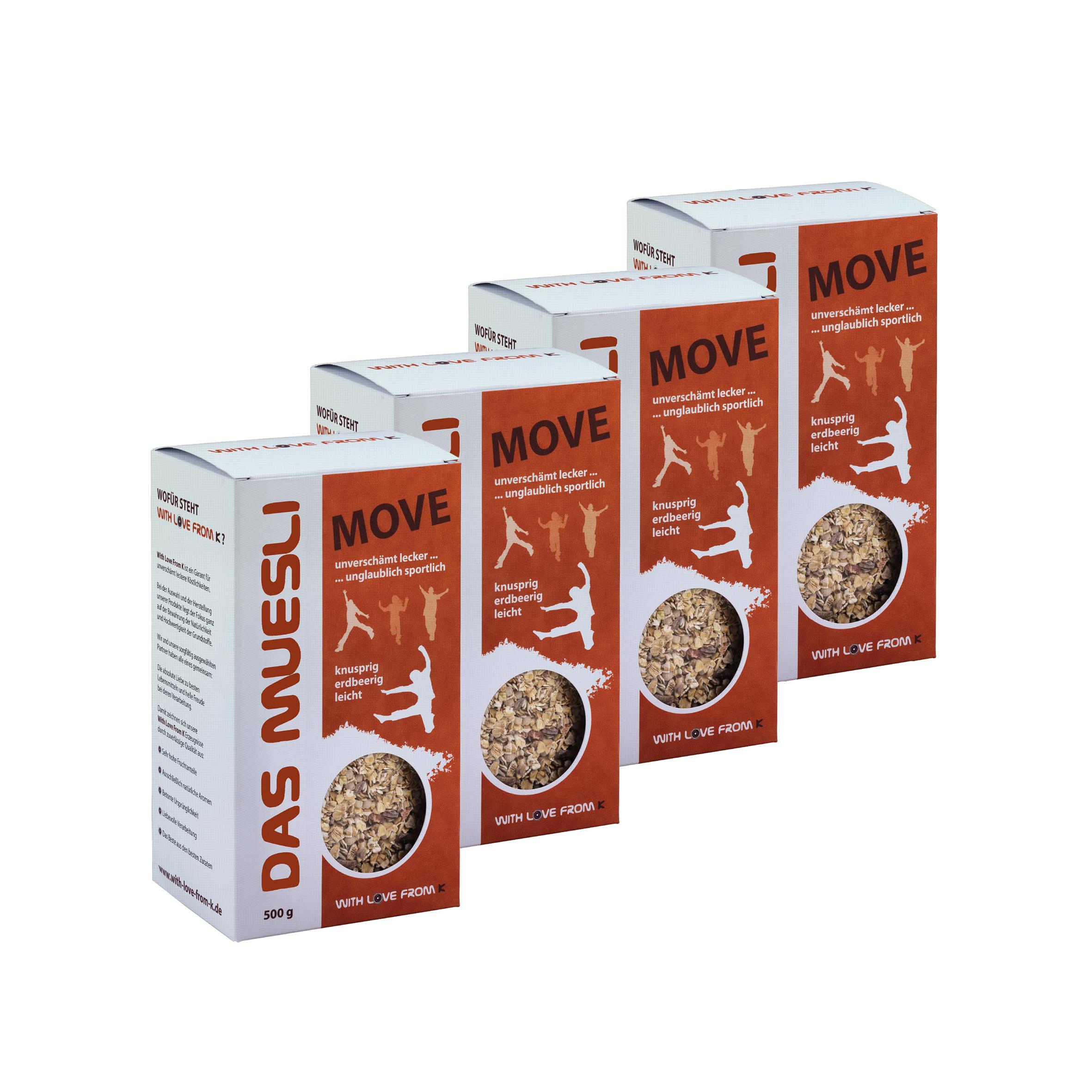 """Das Müslipaket """"Move"""" - 4 Packungen á 6.00€ 00014"""