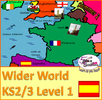 Map Of France For Ks2.Ks2 Level 1 French Spanish Units