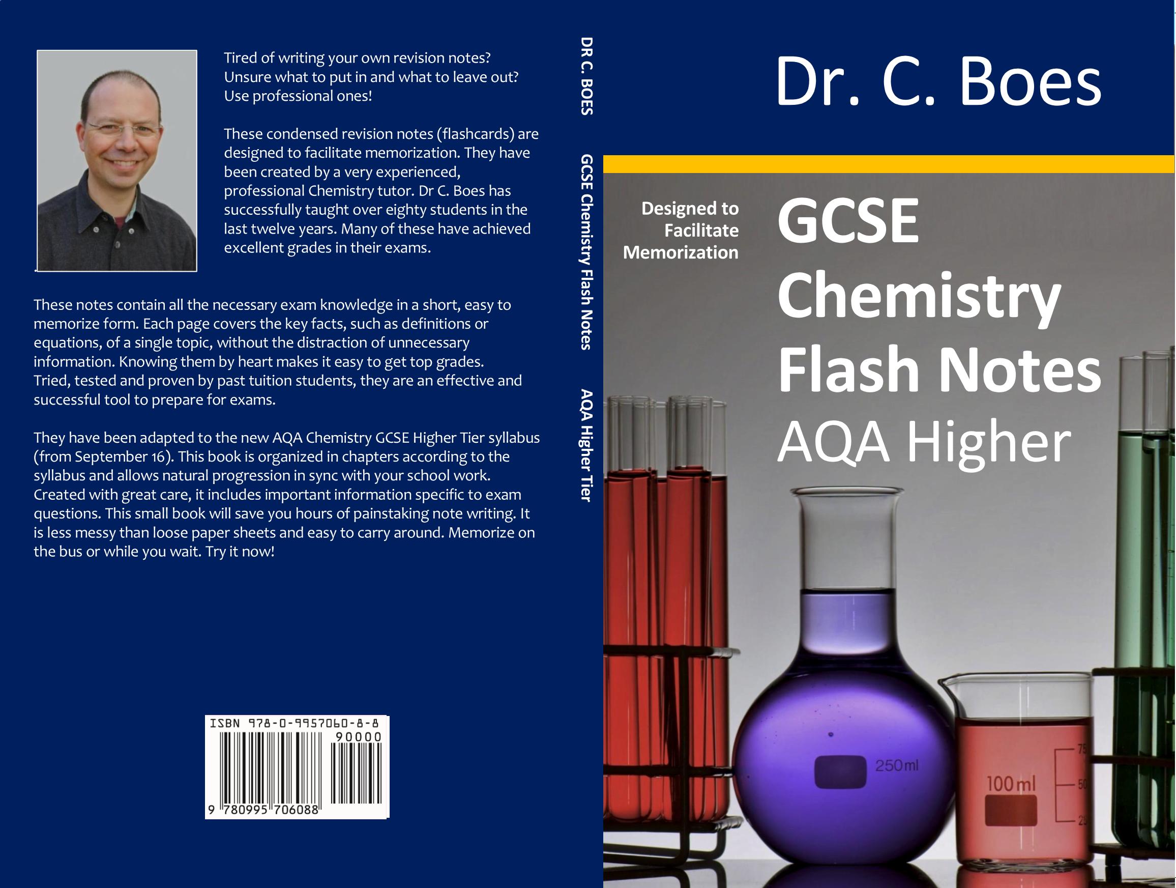 GCSE Chemistry Flash Notes AQA Higher Tier (9-1): Spiral Bound Paperback