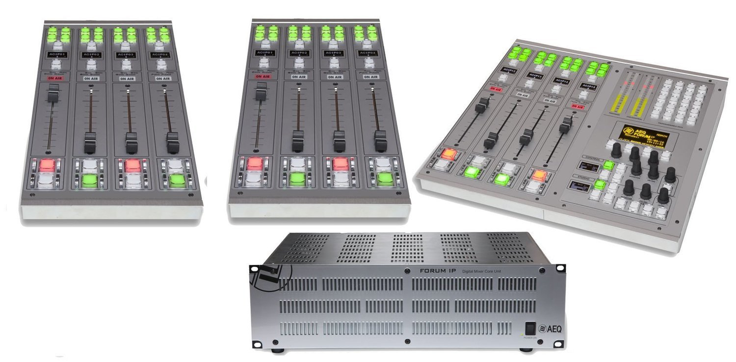 AEQ Forum IP Split - 12 Fader Channel Standard Configuration Package
