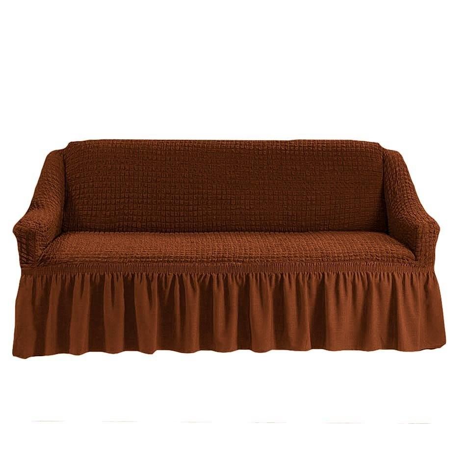 Чехол на 2-й диван (коричневый)