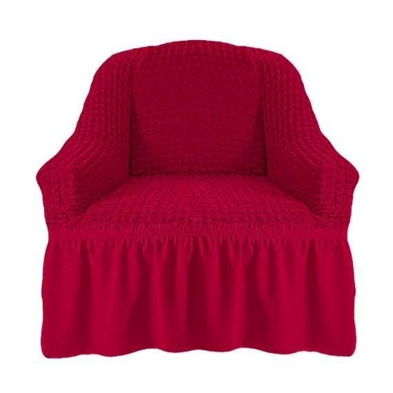 Чехол на кресло с оборкой (малиновый)