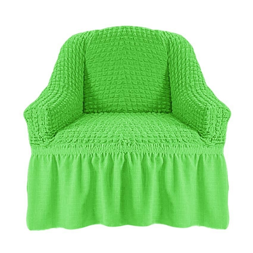 Чехол на кресло с оборкой (салатовый)