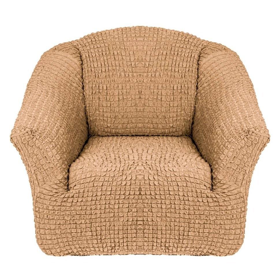 Чехол для кресла без оборки 2 шт.(медовый)