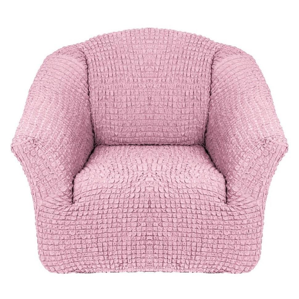 Чехол для кресла без оборки 2 шт.(розовый)