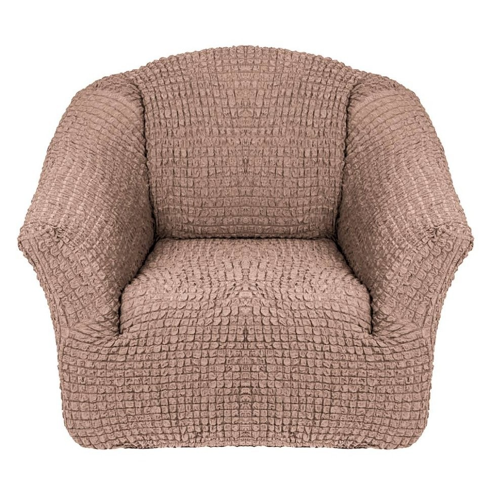 Чехол для кресла без оборки 2 шт. (какао)