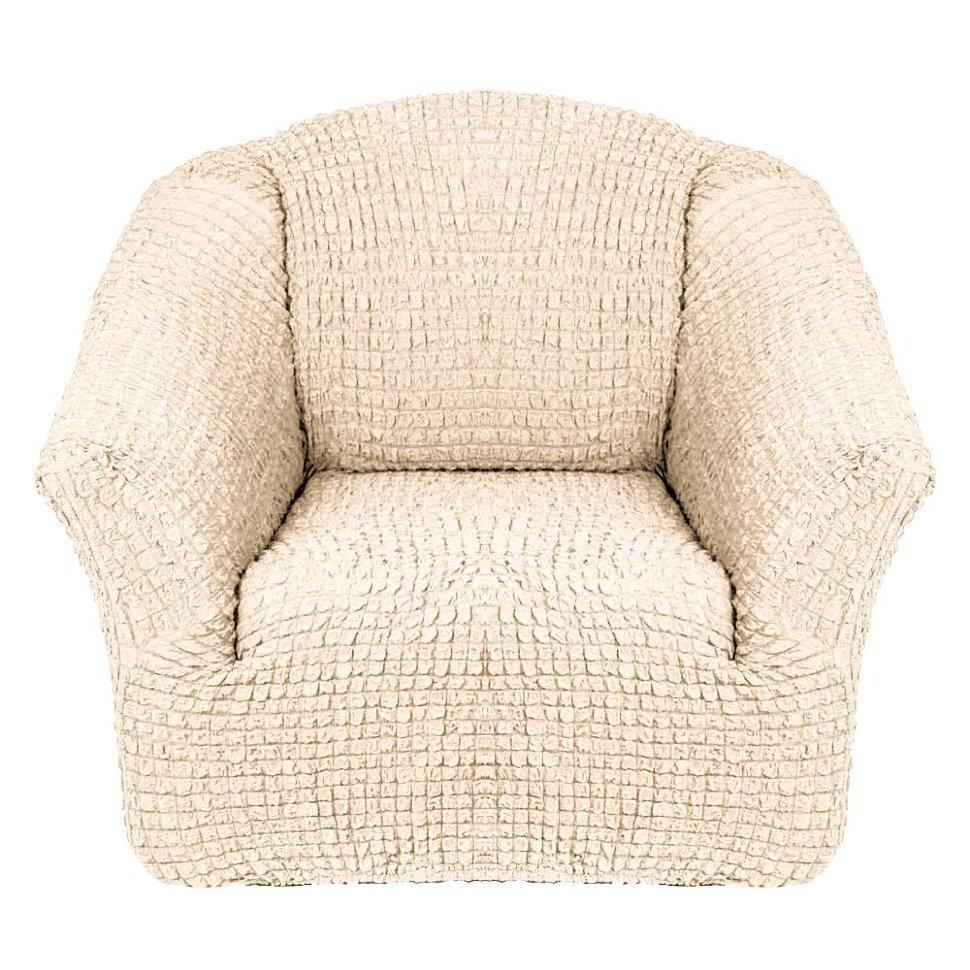 Чехол для кресла без оборки 2 шт.(шампань)