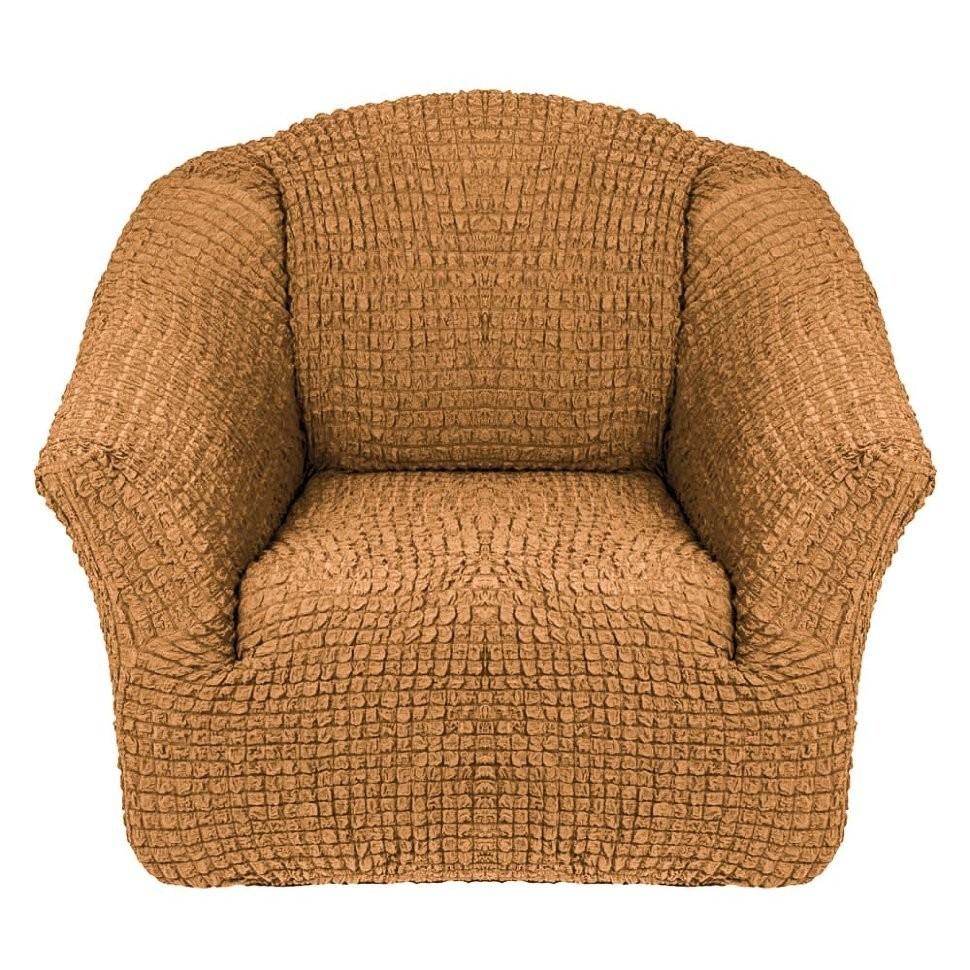 Чехол для кресла без оборки 2 шт. (горчичный)