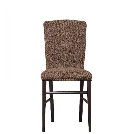 Комплект чехлов на стулья без оборки (кофе)