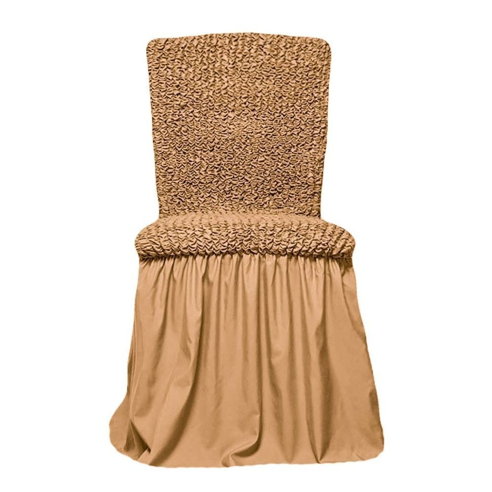 Чехол на стул с оборкой (мед)
