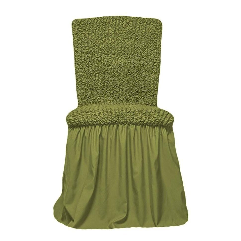 Чехол на стул с оборкой  (фисташка)
