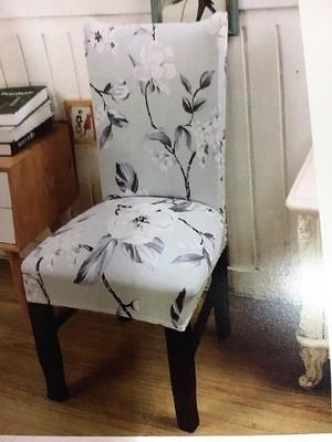 Чехол на стул без оборки с рисунком (А0002)