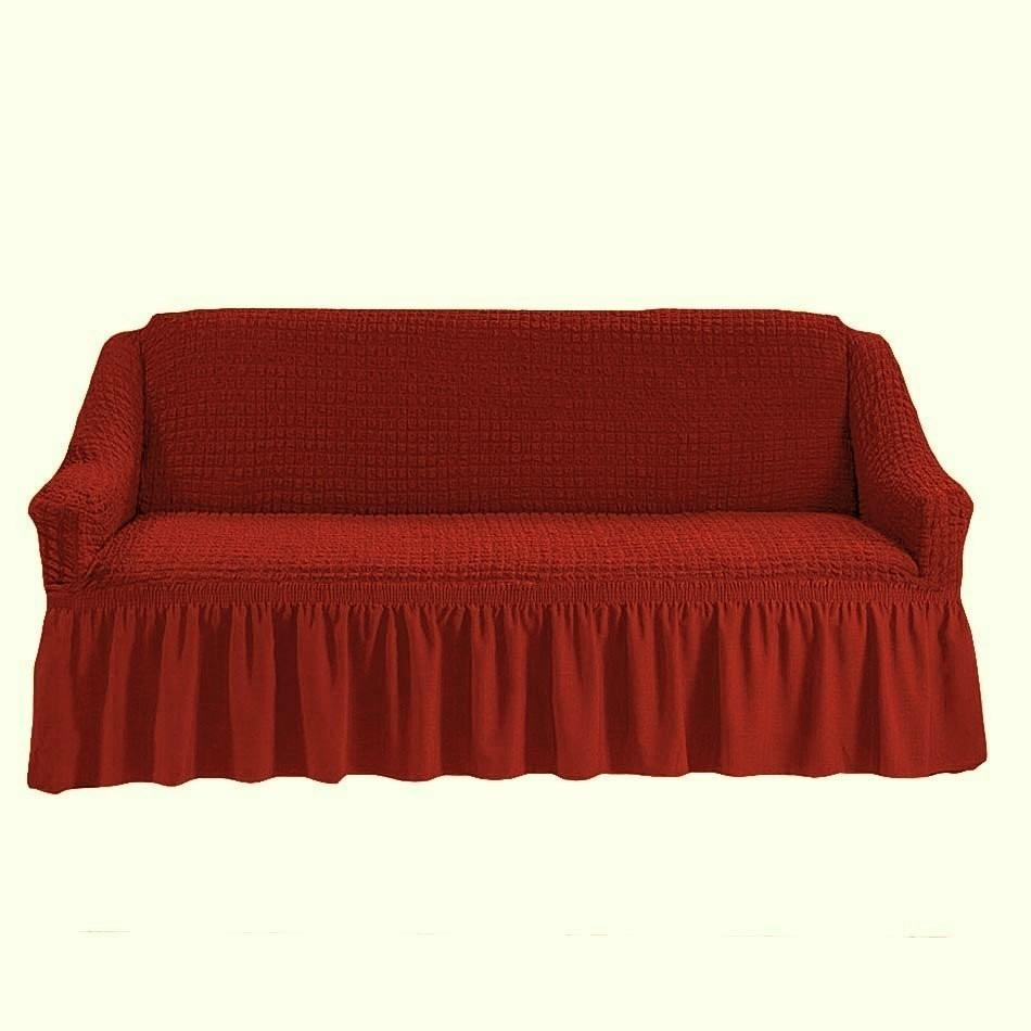 Чехол на 2-й диван (бордо)