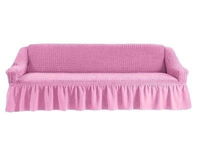 Чехол на четырехместный диван (розовый)