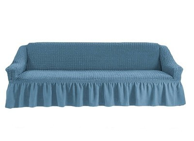 Чехол на четырехместный диван (сизый)