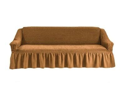 Чехол на четырехместный диван (горчичный)