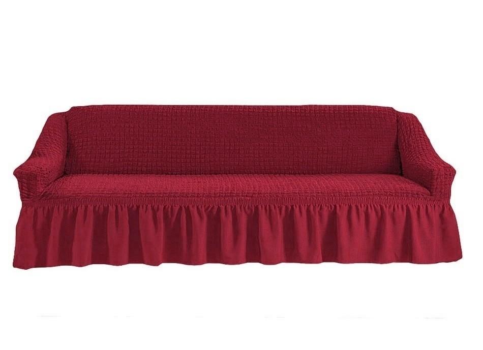 Чехол на четырехместный диван (бордо)