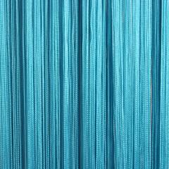 Нитяные шторы кисея (бирюза)