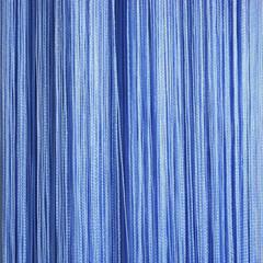 Нитяные шторы кисея (голубой)