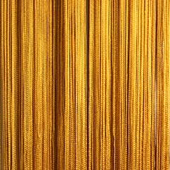 Нитяные шторы кисея (золото)