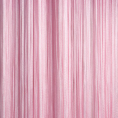 Нитяные шторы кисея (розовый)