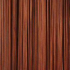 Нитяные шторы кисея (светло-коричневый)