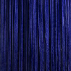 Нитяные шторы кисея (синий)